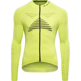 X-Bionic Effektor Power Fahrrad Trikot LS Full-Zip Herren green lime/black